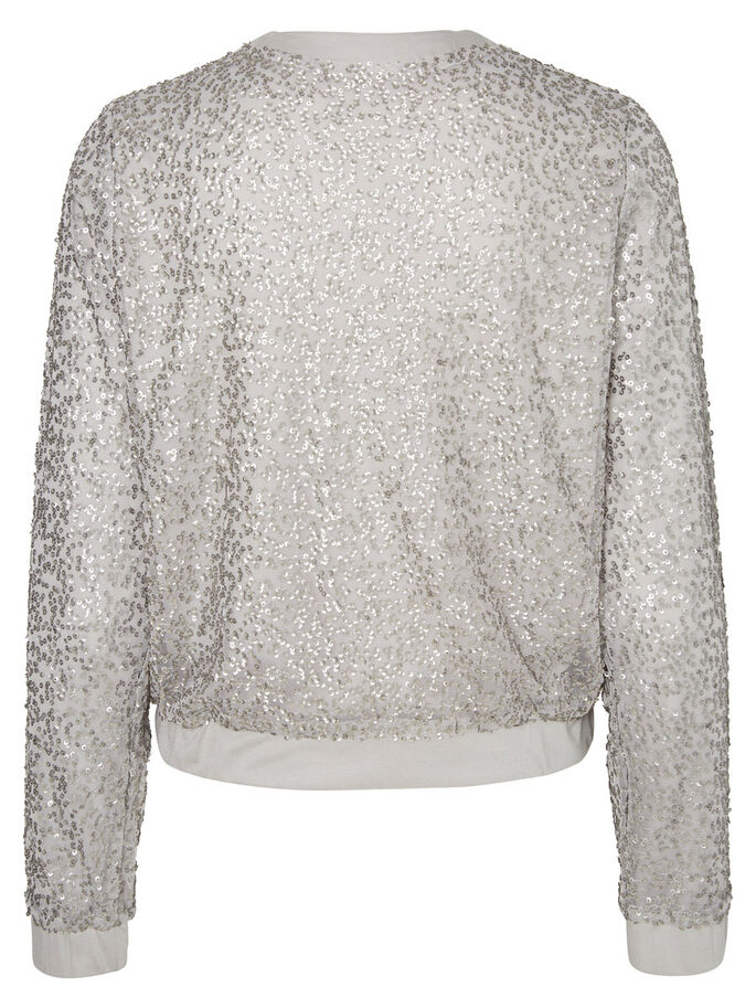 BOMBER JAS, Silver, large
