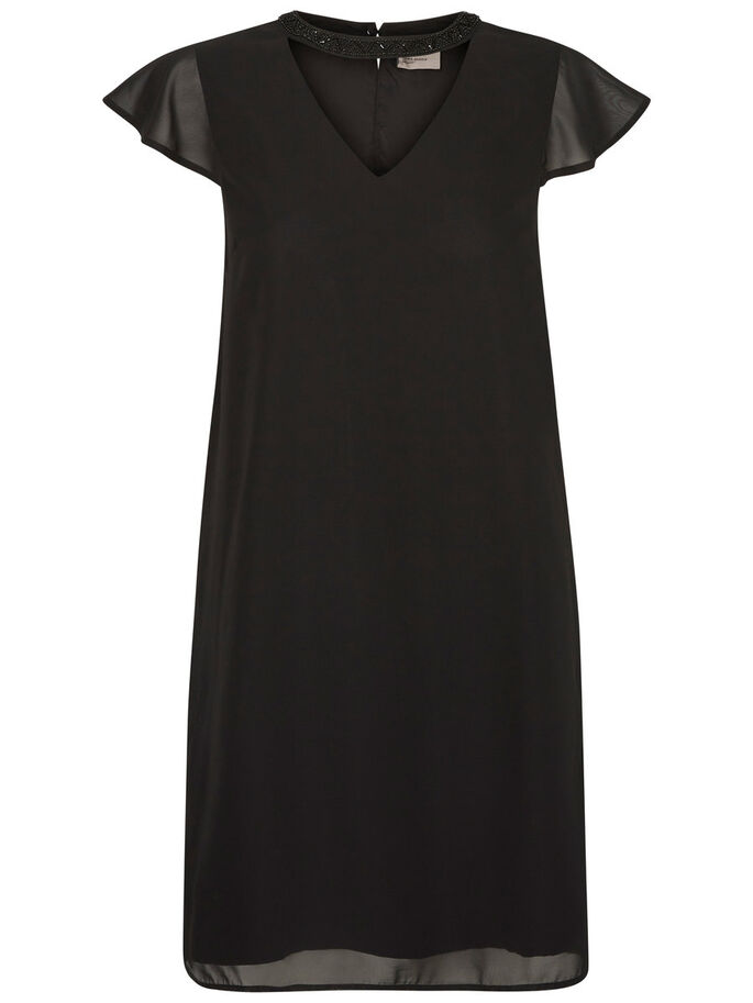 MANCHES COURTES ROBE, Black, large