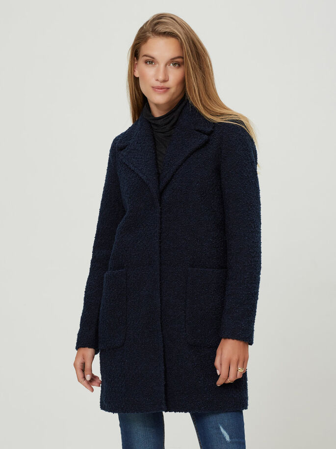 TEDDY COAT, Navy Blazer, large