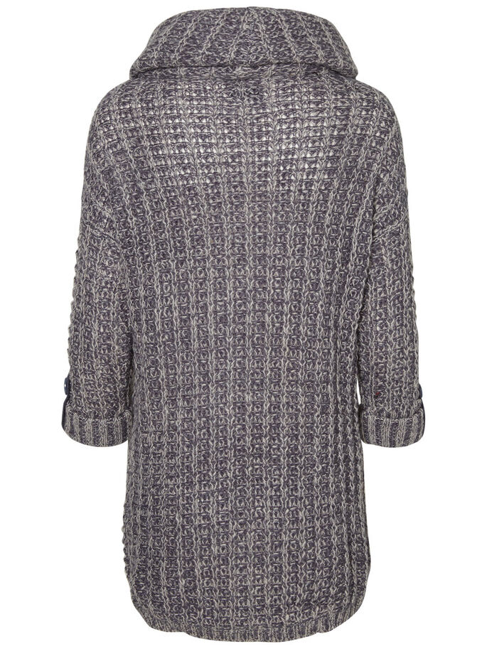 3/4 SLEEVED KNITTED PULLOVER, Ombre Blue, large