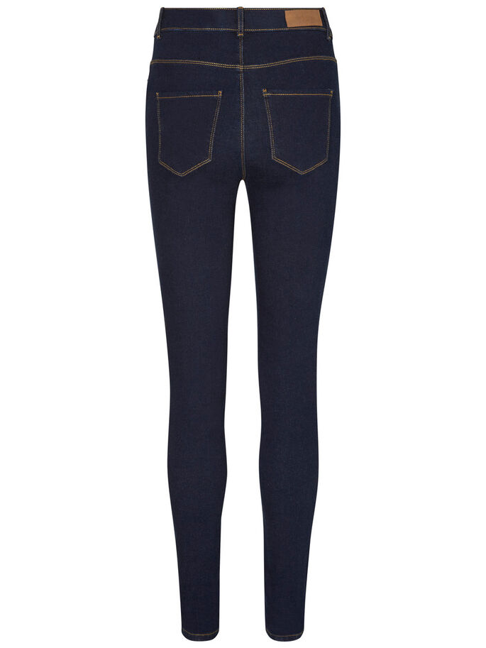 NINE HW SKINNY FIT JEANS, Dark Blue Denim, large