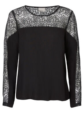 LACED LONG SLEEVED TOP