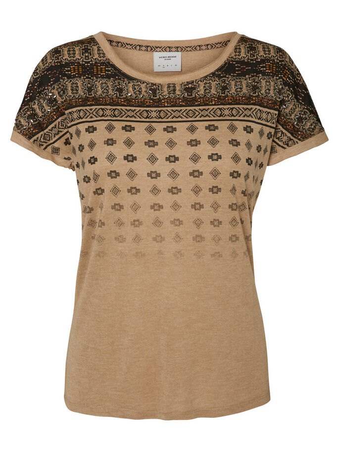 PRINTED T-SHIRT, Tannin, large