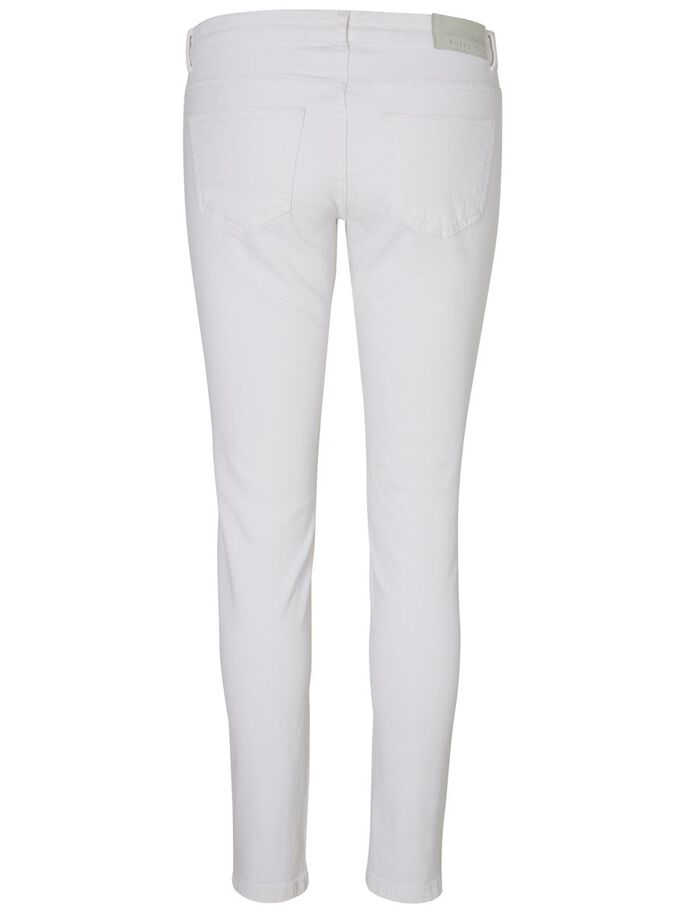 EVE LW ANKLE SKINNY FIT JEANS, Bright White, large