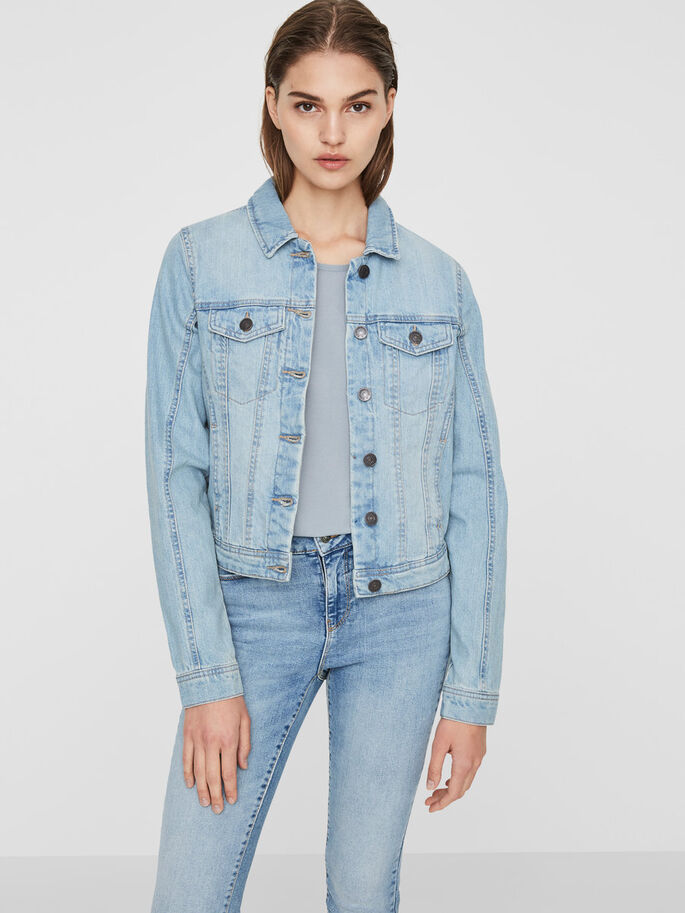 COOLE JEANSJACKE, Light Blue Denim, large