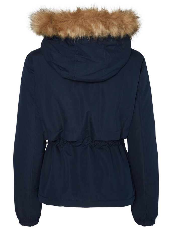 SHORT PARKA COAT, Navy Blazer, large