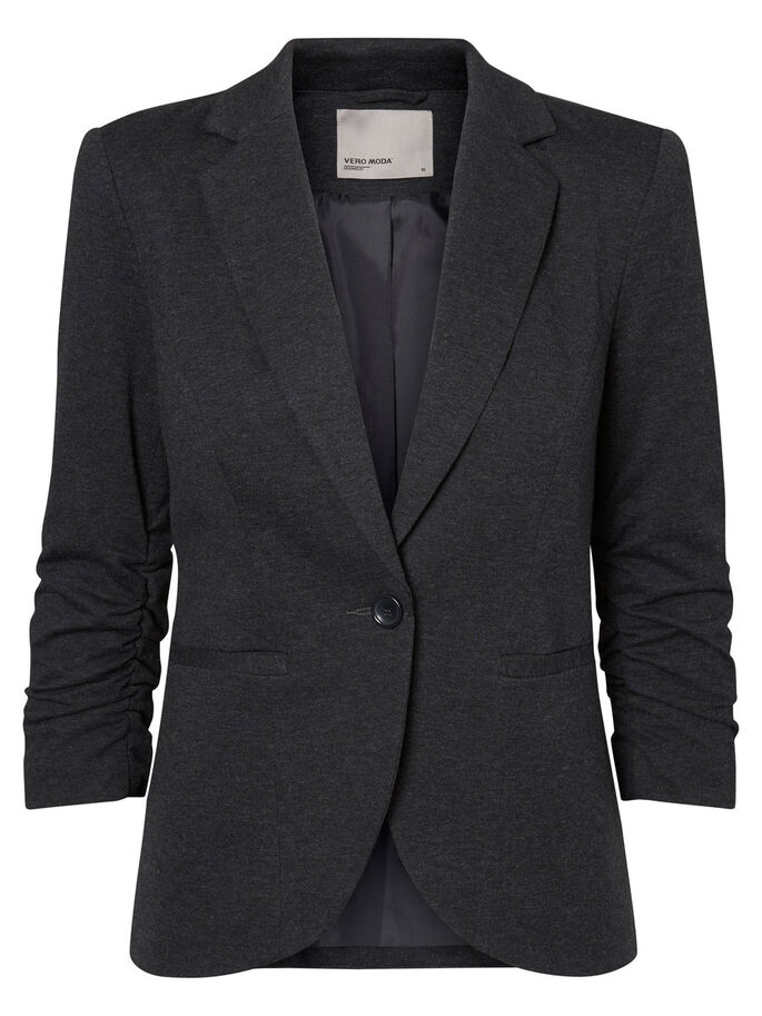 3/4 MOUW BLAZER, Dark Grey Melange, large