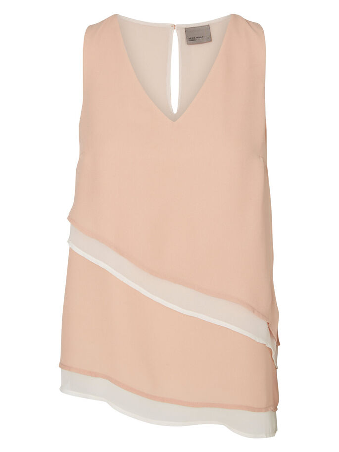 FEMININE SLEEVELESS TOP, Mahogany Rose, large