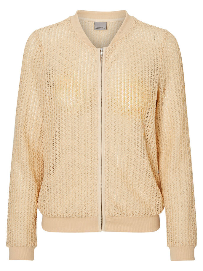 BOMBER JACKET, Ivory Cream, large