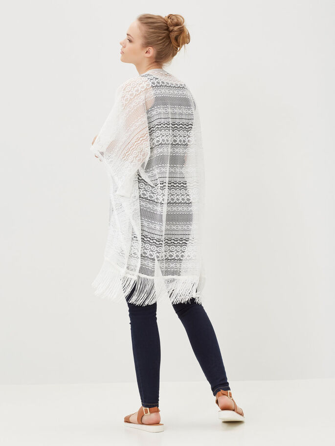 FRINGED PONCHO, Snow White, large