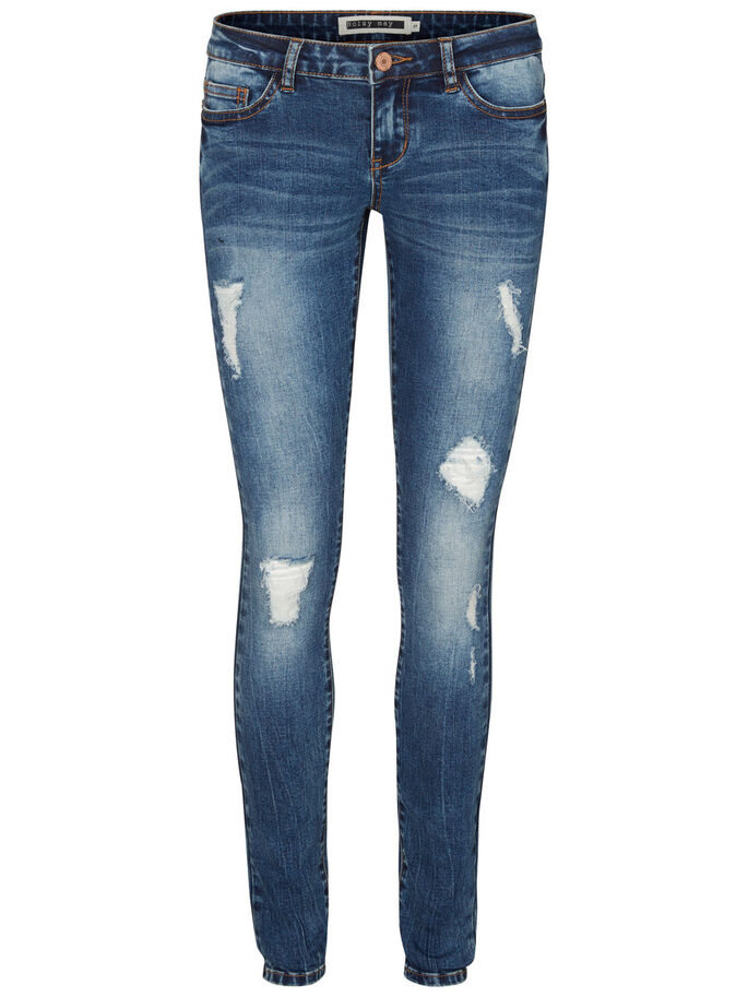 EVE NW SKINNY FIT JEANS, Dark Blue Denim, large