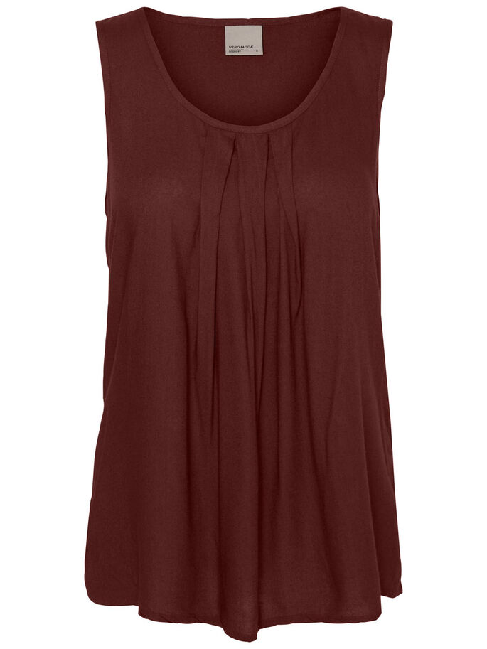 FEMININE SLEEVELESS TOP, Decadent Chocolate, large