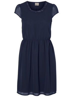 SHORT SLEEVED PARTY DRESS