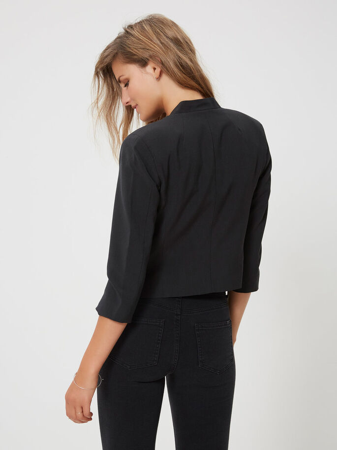 3/4 SLEEVED BLAZER, Black, large