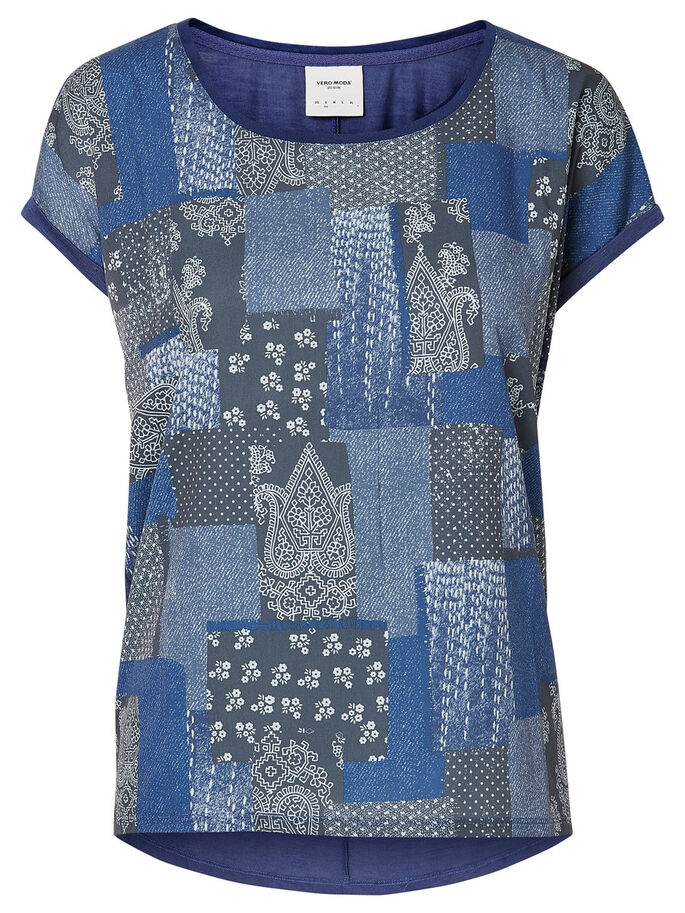 PRINTED T-SHIRT, Twilight Blue, large