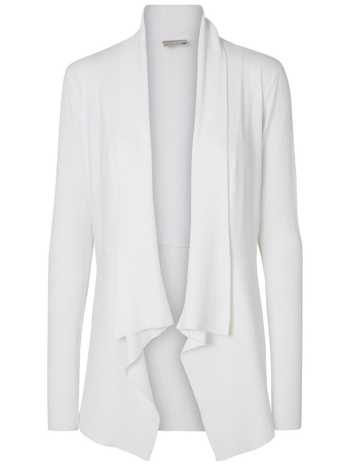 LONG SLEEVED CARDIGAN, Bright White, large