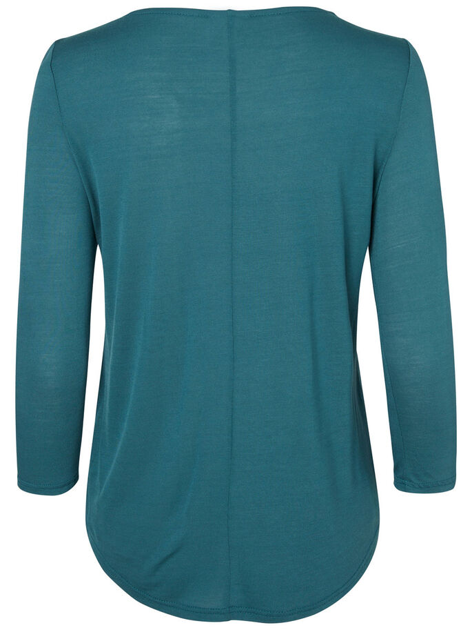 CASUAL 3/4 SLEEVED TOP, Balsam, large
