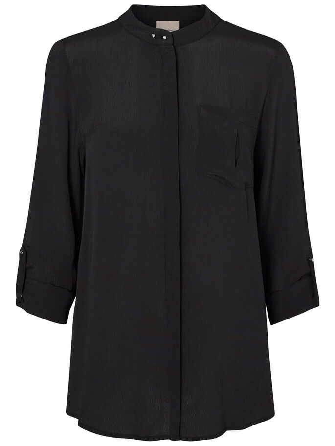 FEMININE SHIRT, Black, large