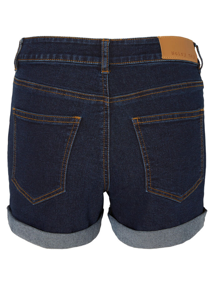 DENIM SHORTS, Dark Blue Denim, large