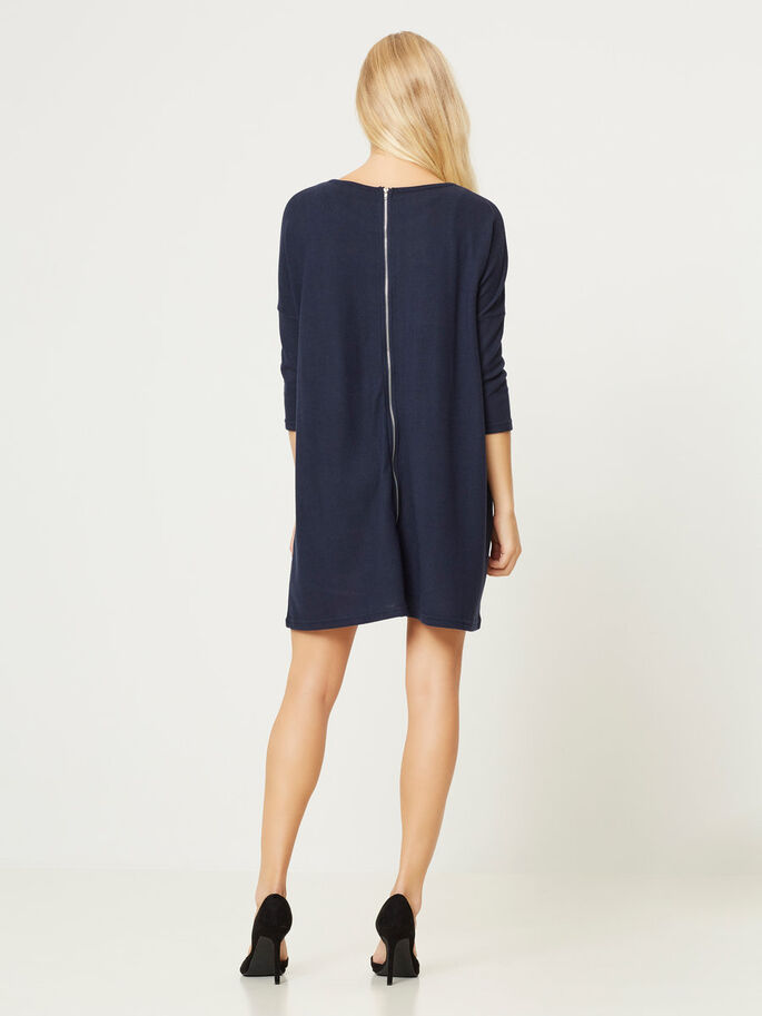 OVERSIZED SHORT DRESS, Navy Blazer, large