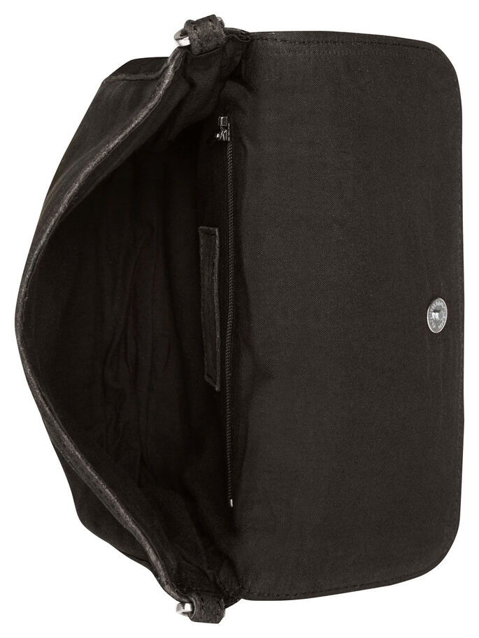 BANDOULIÈRE DAIM SAC, Black, large