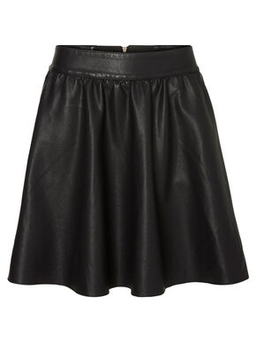 IMITATED LEATHER SKIRT
