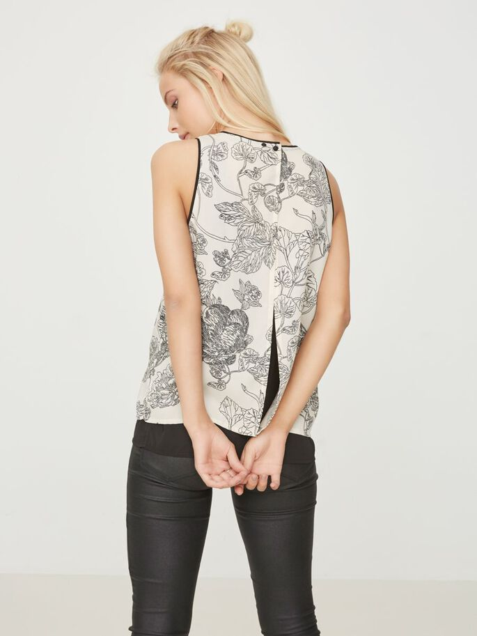 FLOWER SLEEVELESS TOP, Pink Tint, large
