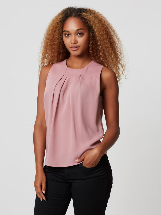 FEMININE SLEEVELESS TOP, Nostalgia Rose, large