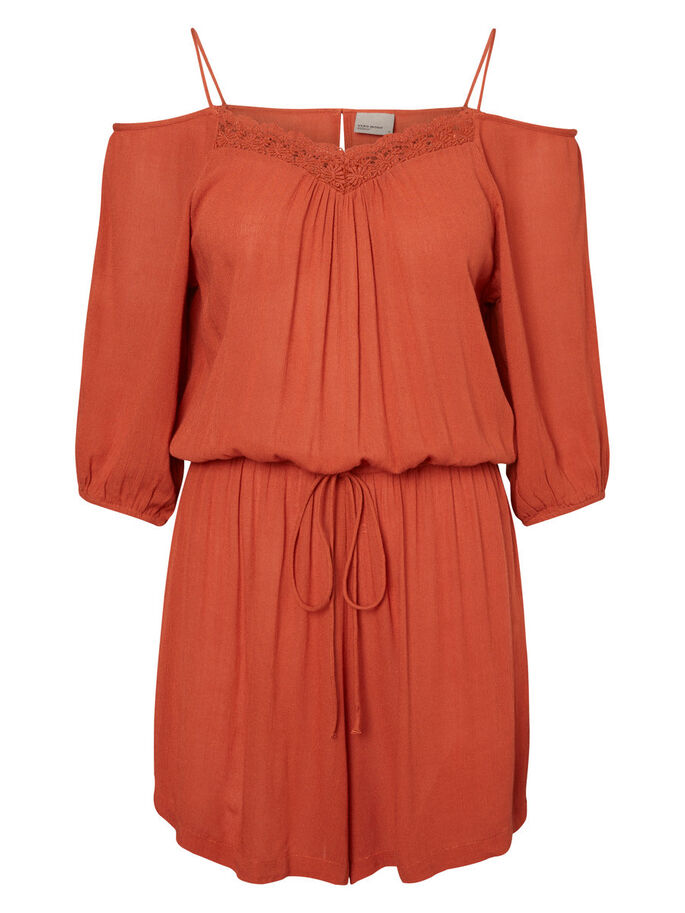 COLD-SHOULDER- PLAYSUIT, Burnt Brick, large