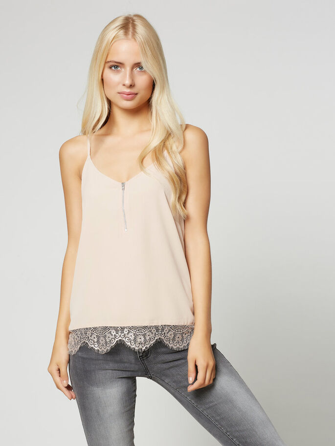 CAMI SLEEVELESS TOP, Rose Dust, large