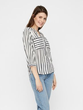 STRIPED 3/4 SLEEVED SHIRT