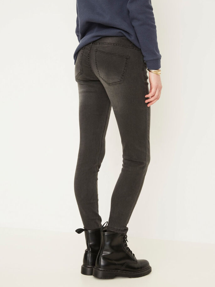 EVE LW ANKLE SKINNY FIT JEANS, Black, large