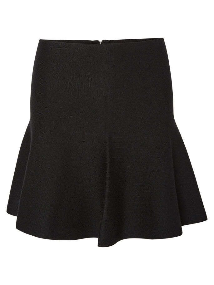 HIGH WAIST KJOL, Black, large
