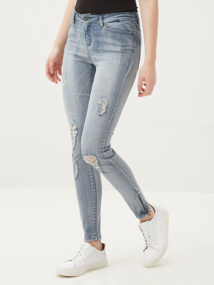 SEVEN NW ANKLE SKINNY FIT JEANS, Light Blue Denim, large