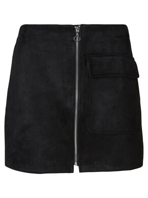 FAUX SUEDE HW SKIRT