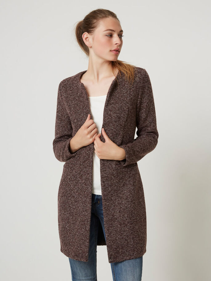 LONG BLAZER, Decadent Chocolate, large