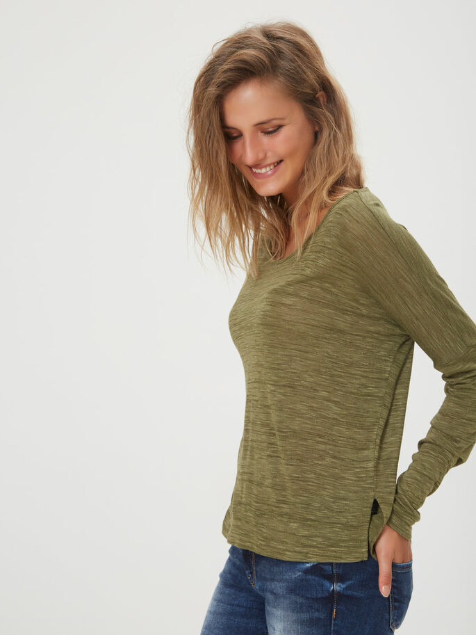 CASUAL LONG SLEEVED BLOUSE, Ivy Green, large