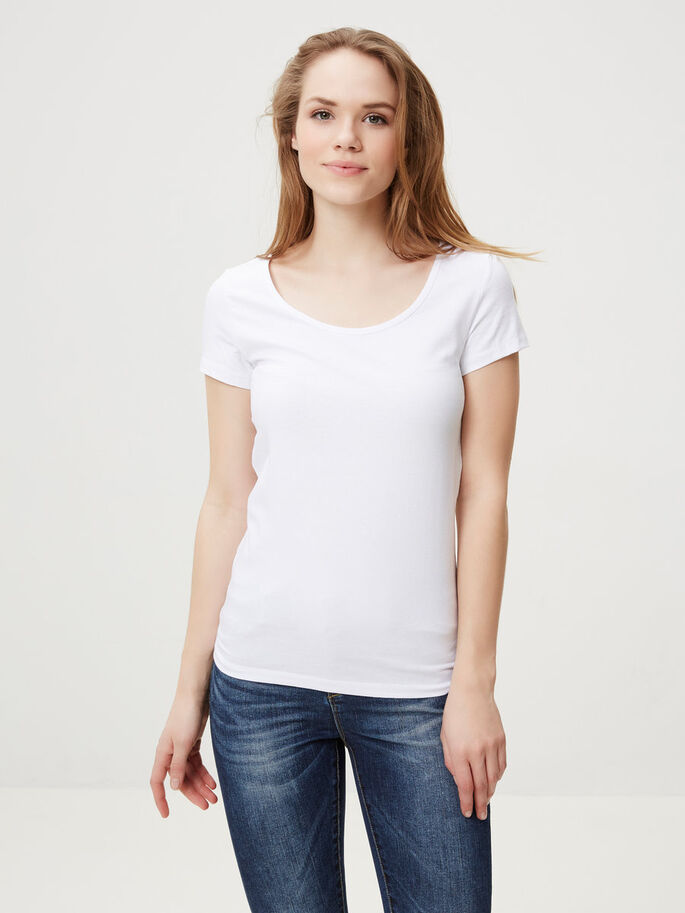 MAXI T-SHIRT, Bright White, large
