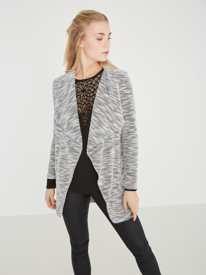 LANGERMET CARDIGAN, Light Grey Melange, large
