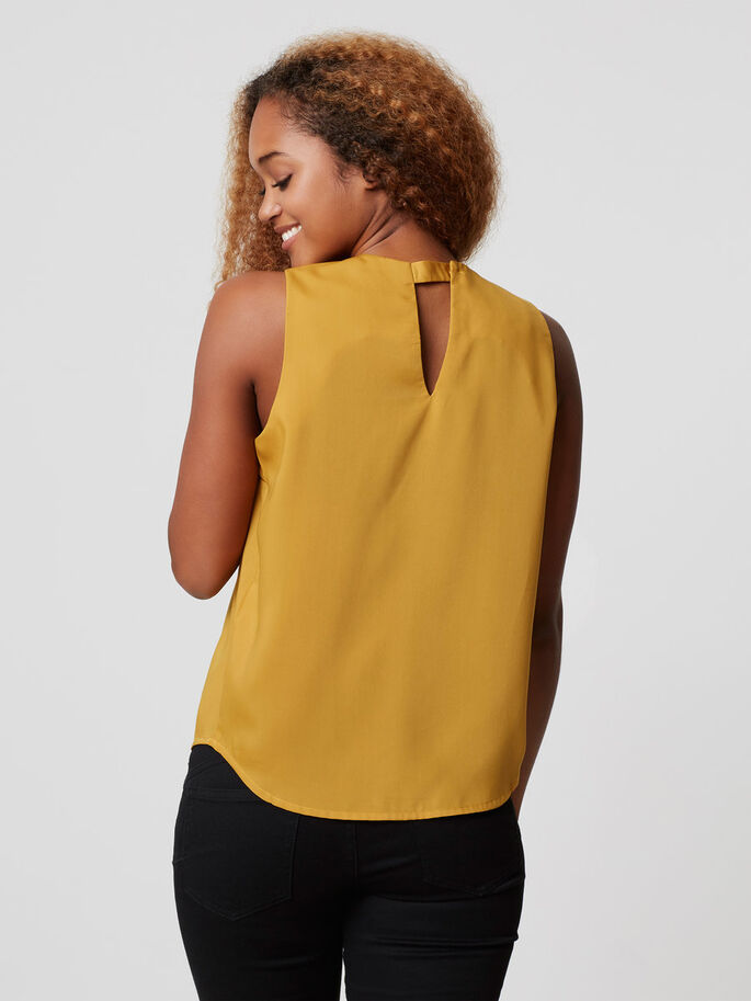 FEMININE SLEEVELESS TOP, Harvest Gold, large