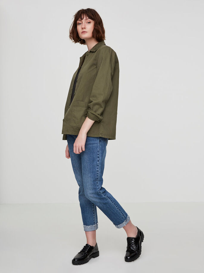 FEMININE JACKET, Ivy Green, large