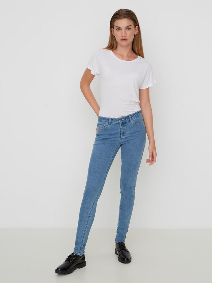 LUCY NW SKINNY FIT JEANS, Light Blue Denim, large
