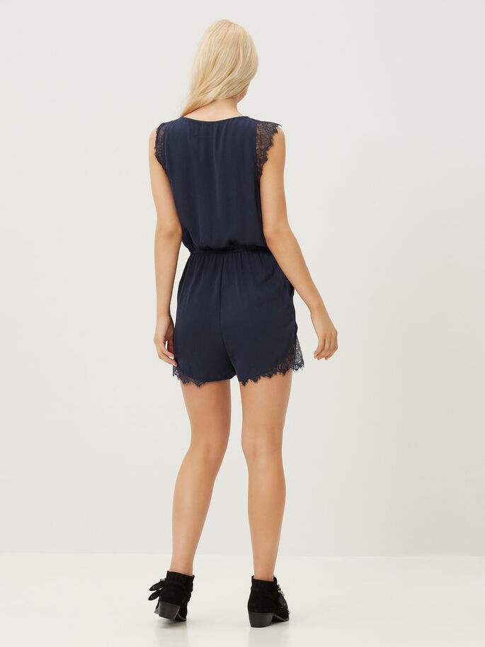 LACED PLAYSUIT, Total Eclipse, large
