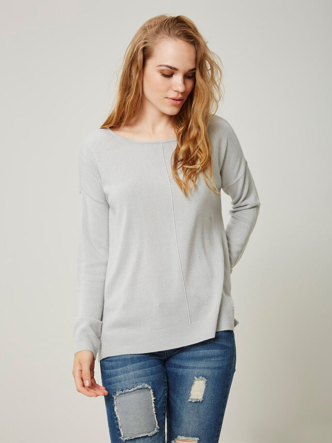 LOOSE FIT STRIKKET PULLOVER, High-Rise, large
