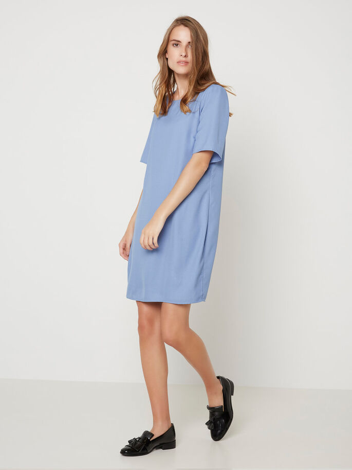 SHORT SLEEVED DRESS, Colony Blue, large