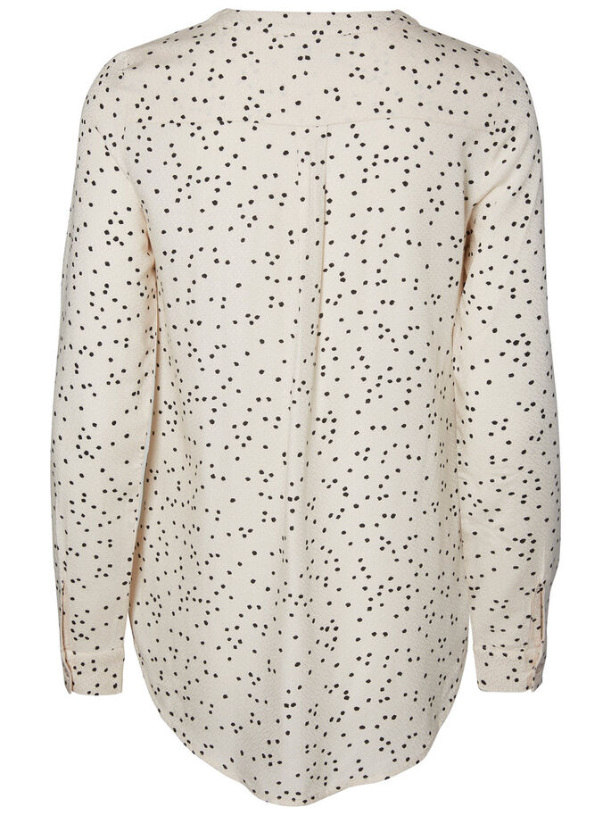 PRINTED LONG SLEEVED SHIRT, Pink Tint, large