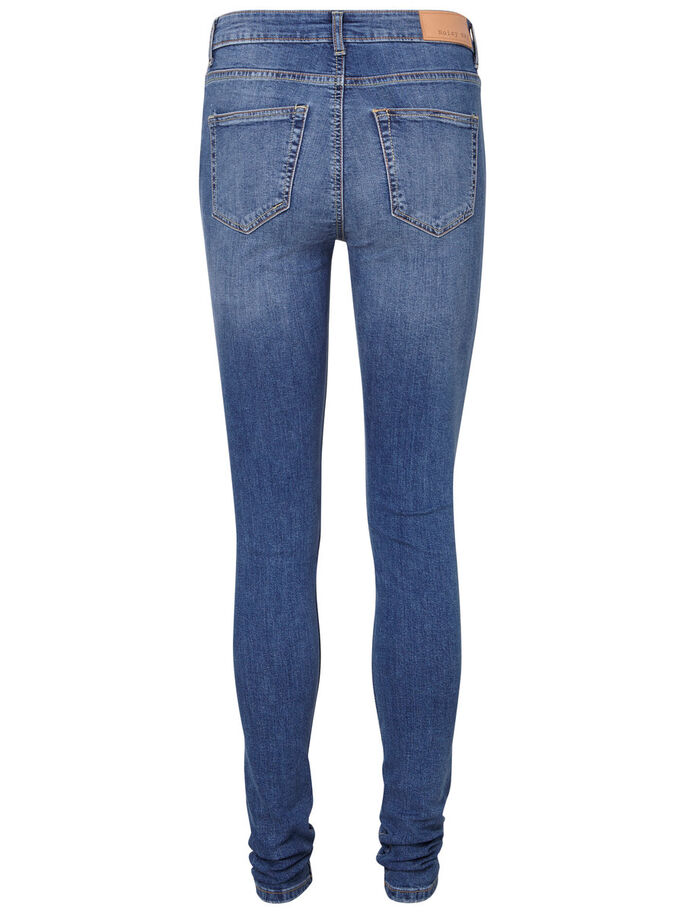 LUCY NW SKINNY FIT JEANS, Medium Blue Denim, large