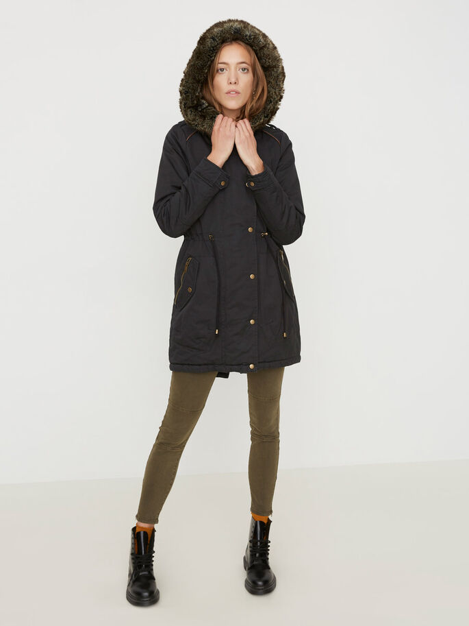 WINTER PARKA, Black, large