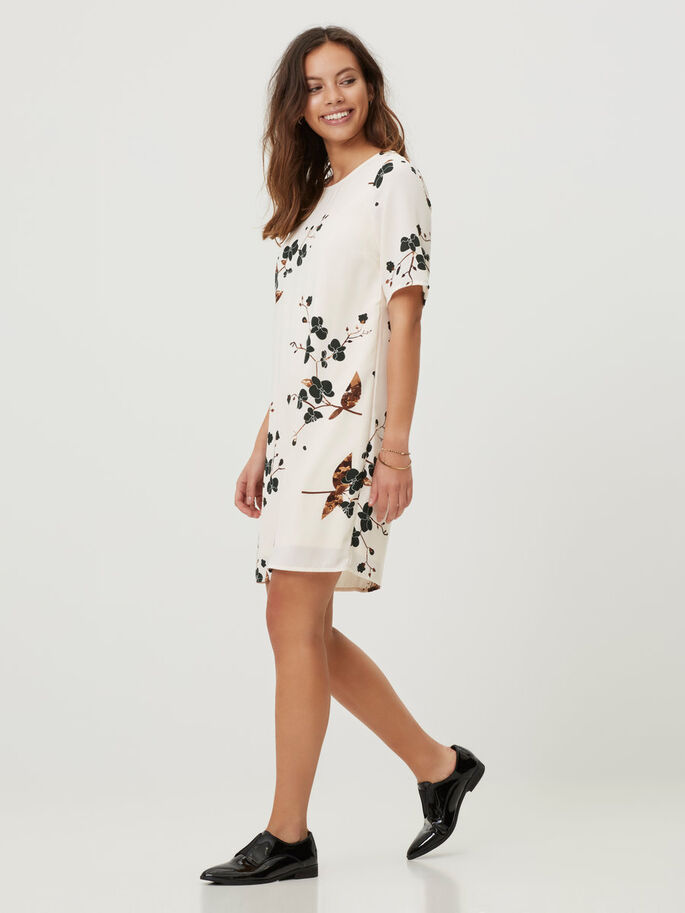 FLOWER PRINTED SHORT DRESS, Pristine, large