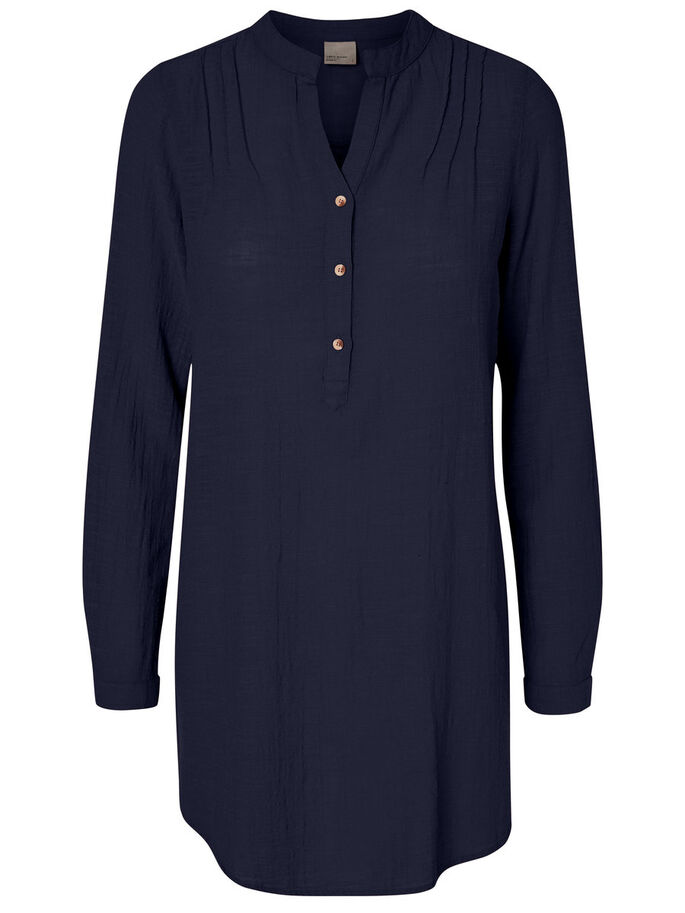 TUNIC SHIRT, Navy Blazer, large